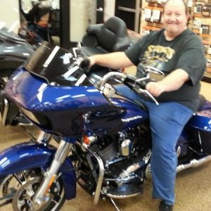 2015 Road Glide Special and me when I was looking at them.  Well that color sold me!!!